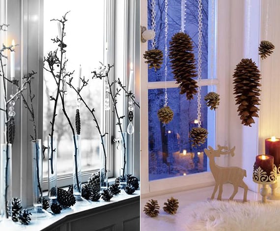 20 diy ideen f r winterdeko mit nadelb ume zapfen freshouse for Dekoration fensterbank