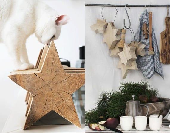 stern dekoideen und bastelideen mit holz für diy Weihnachtsdeko mit holzsternen