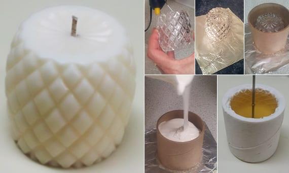silikonformen herstellen für DIY kerzen mit relief
