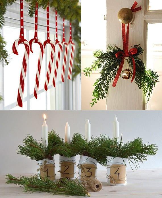 coole und einfache Dekoideen mit Tannengrün als Fensterdeko und DIY Adventskalender