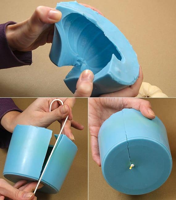 wie kann ich silikonformen für kürbiskerzen herstellen