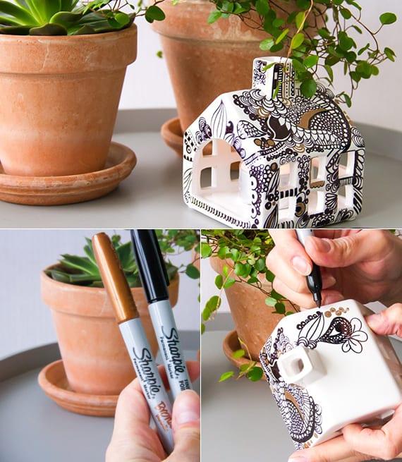 diy dekoartikel als last minute geschenke_ kreative Teelichthalter selber machen als coole Geschenkidee