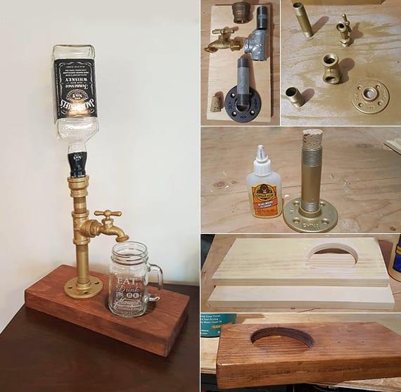 coole bastelidee für DIY Alkoholdispenser als kreatives DIY Geschenk für männer