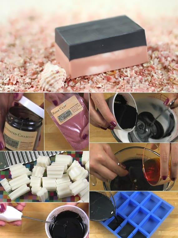 rezept für hausgemachte Aktivkohle Seife als cooles DIY Geschenk für frauen