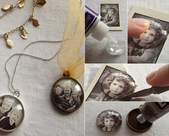 last-minute geschnke für frauen basteln_diy Foto-Kettenanhänger als originelle geschenkidee für sie