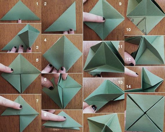 wie kann ich origami tannenbaum falten