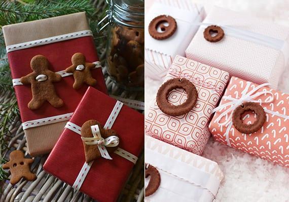 originelle geschenkverpackung mit Plätzchen-Geschenkanhänger