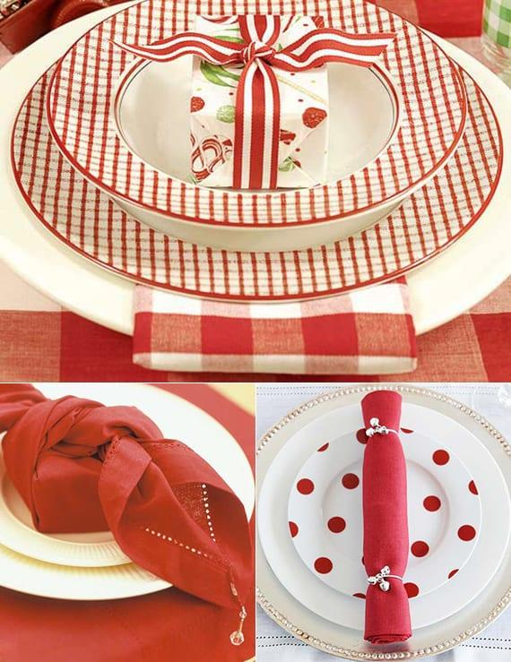 geschenke in servietten falten als coole tischdeko idee zu weihnachten