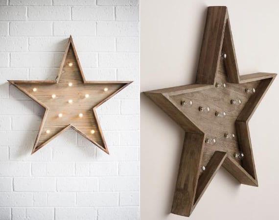 stern wandleuchte aus holz basteln_kreative bastelidee und dekoidee mit DIY Stern-wandleuchte