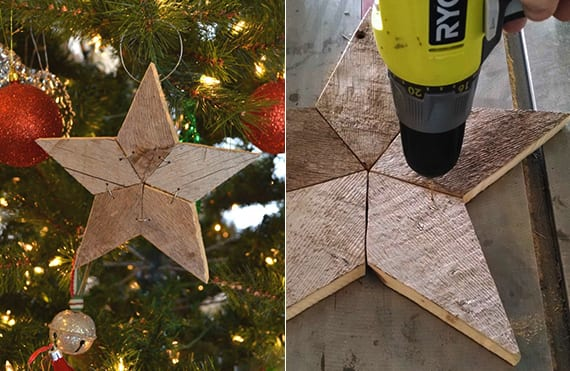 diy holzstern-weihnactsschmuck_einfache bastelidee für selbstgemachte Stern-deko