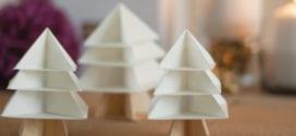 Tannenbaum falten aus verschiedenen Materialien