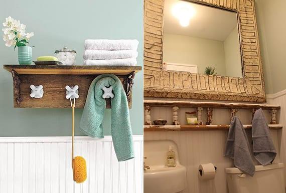 Bad in ordnung halten hand und badet cher organisieren - Rustikale wandregale ...