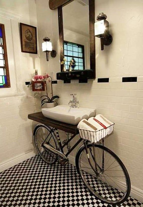 coole bad ideen für kleine bäder und diy fahrrad-waschtisch