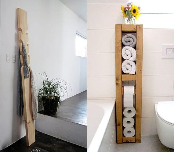 hand- und badetücher organisieren und tuchregal aus holz selber bauen