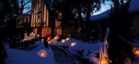 Laterne basteln für den Garten im Winter