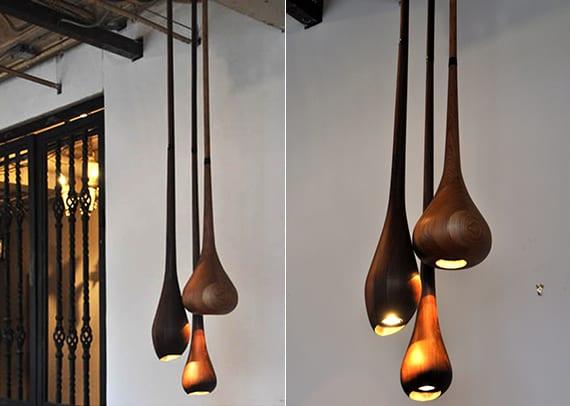 coolen lampen aus holz für moderne raumgestaltung und interessanten luchteffekt