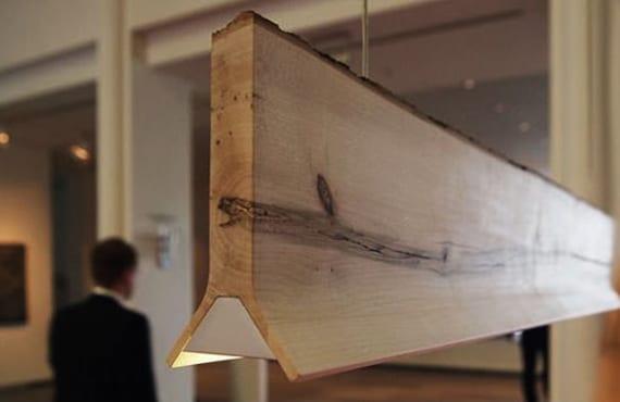 moderne pendellampe aus holz für moderne raumgestaltung und reichende beleuchtung des esstisches