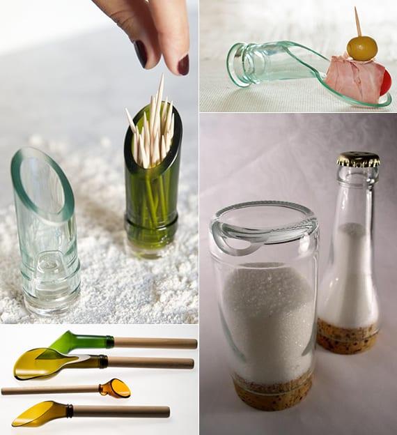 coole bastelideen mit weihflaschen_diy zahnstochherhalter, diy glasläffel und diy salz- und pfefferstreuer