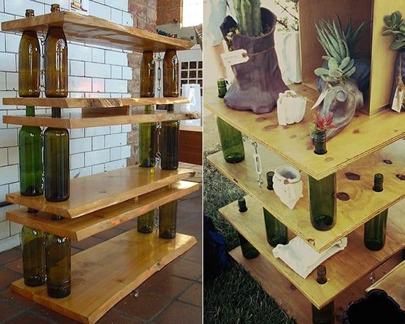 freistende regale aus holz selber bauen_coole bastelideen für diy möbel