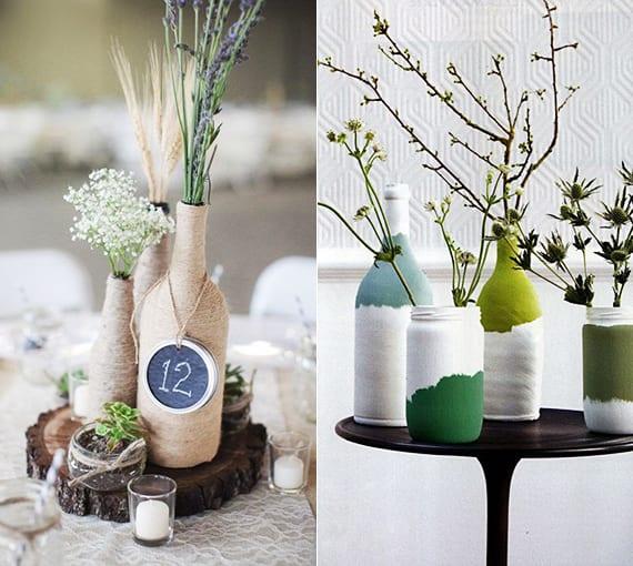 einfaches upcycling von weinflaschen in modernen vasen