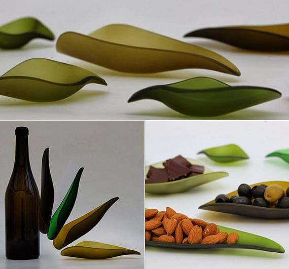 moderne glas-servierschalen basteln aus glas_ideen für stilvolles tisch eindecken