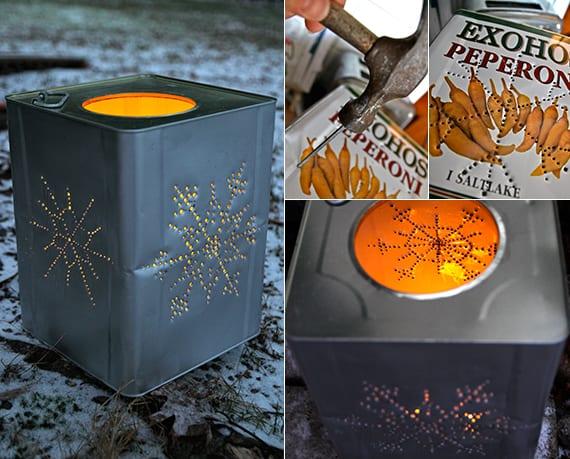 kreatives basteln von laternen für den garten_gartengestaltung ideen für den winter
