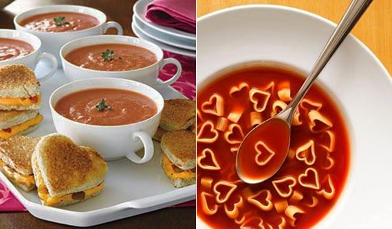 valentinstag ideen und rezepte für romantisches Mittagsessen