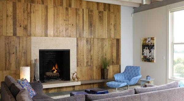 wandgestaltung ideen mit paletten f r holzwand im wohnzimmer freshouse. Black Bedroom Furniture Sets. Home Design Ideas