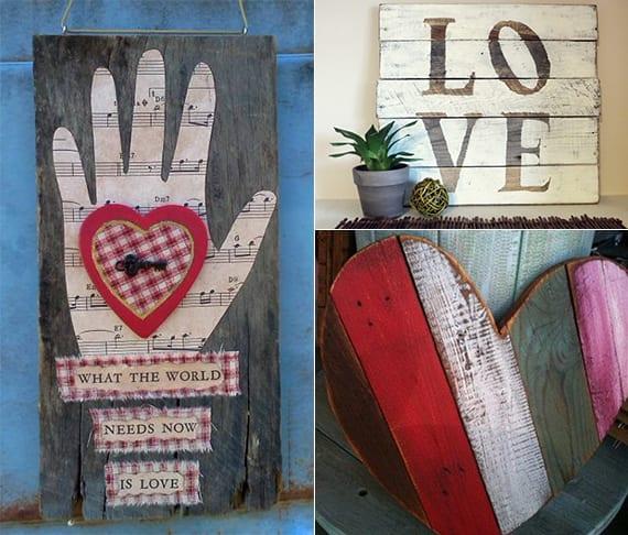 deko mit paletten selber machen zum valentinstag