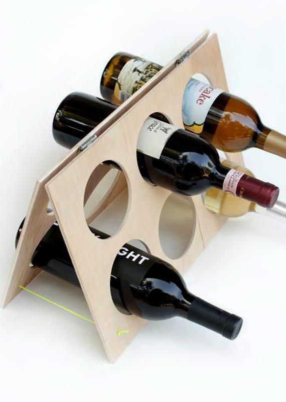 eigenes weinregal basteln mit holz_coole bastelideen für DIY Flaschenregale