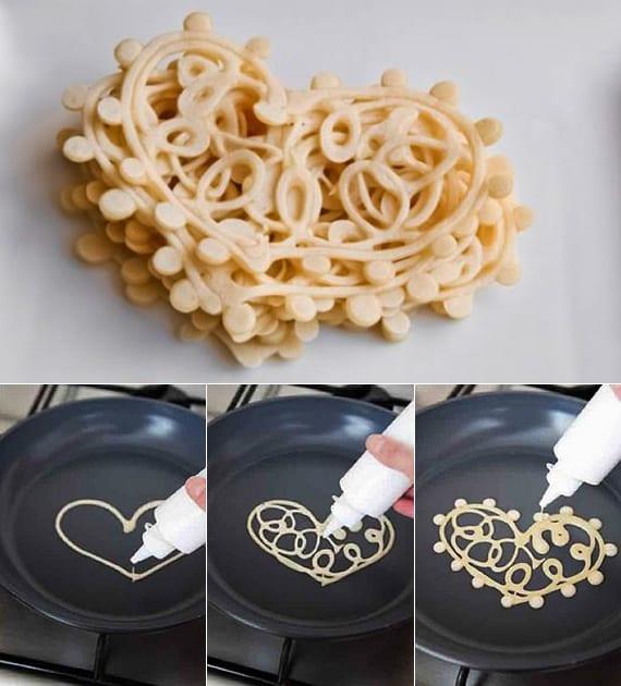 Idee Für Leckeres Valentinstag Frühstück Mit Herzförmigen Pfannkuchen