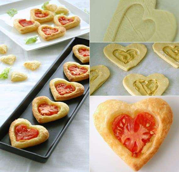 einfache und schnelle rezepte für verliebte_butterteig herzen mit tomaten zum valentinstag