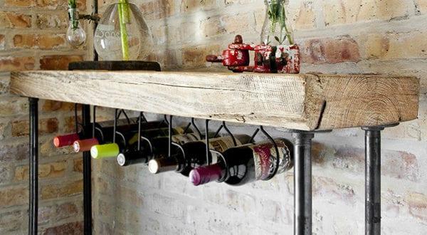 So einfach kann man ein eigenes Weinregal selber bauen