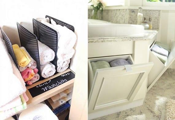 coole Ideen für hand- und badetücher organisieren