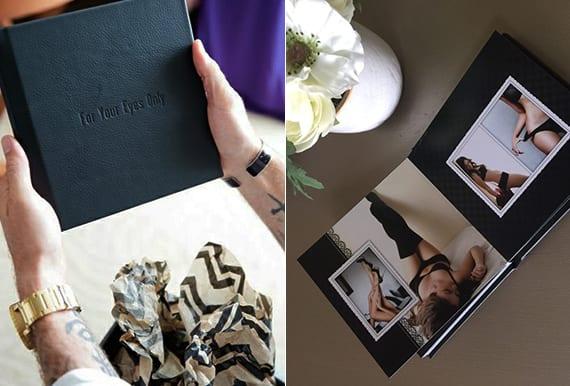 professionelles Fotobuch mit verführerischen Fotos als romantische geschenkidee für männer