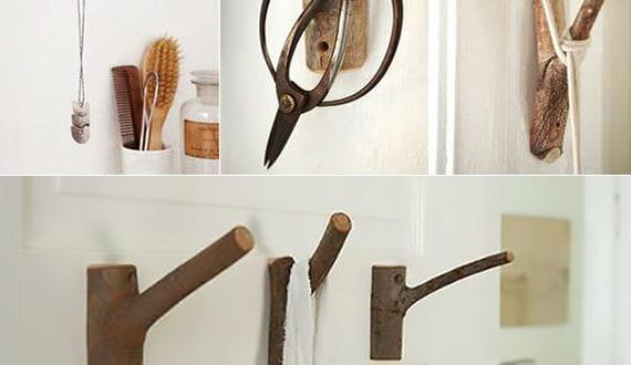 diy wandhacken zum ordnen und dekorieren basteln mit zweigen freshouse. Black Bedroom Furniture Sets. Home Design Ideas