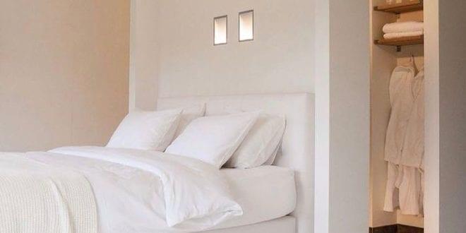 wohnideen schlafzimmer - ein begehbarer kleiderschrank hinter dem, Wohnideen design