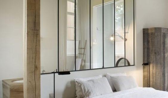 Wohnideen Schlafzimmer mit kleinem Bad hinterm bett - fresHouse