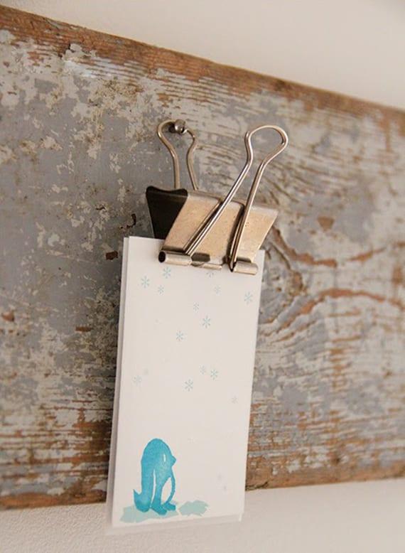 coole bastelidee für DIY Memoboard aus holz und Foldback-klammern