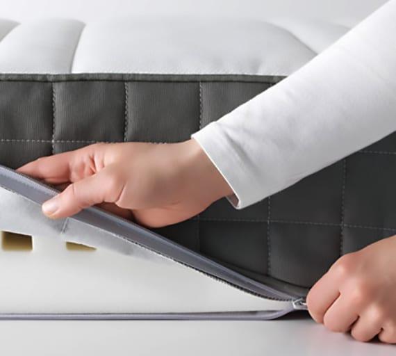 der waschbare Matratzenbezug hilft gegen Milben und sorg für gesunden schlaf