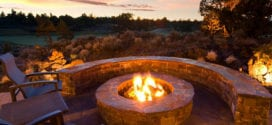 Mehr Romantik im Garten schaffen mit einem DIY Außenkamin