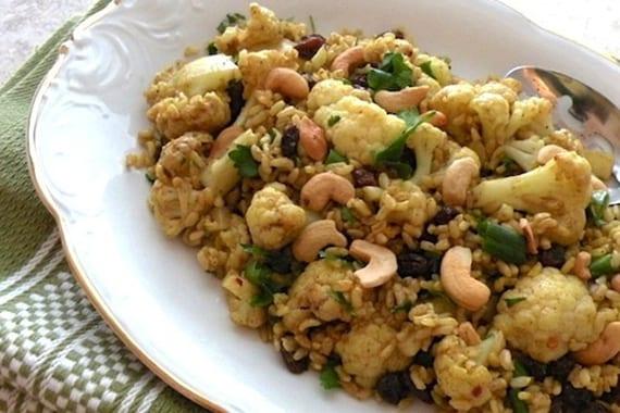 einfache rezeptidee für Vegan Pilau mit Reis, Blumenkohl und Cashew