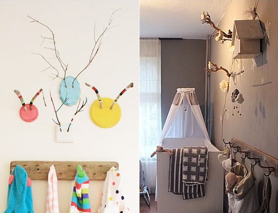 ein reizendes kinder und babyzimmer gestalten mit zweigen freshouse. Black Bedroom Furniture Sets. Home Design Ideas