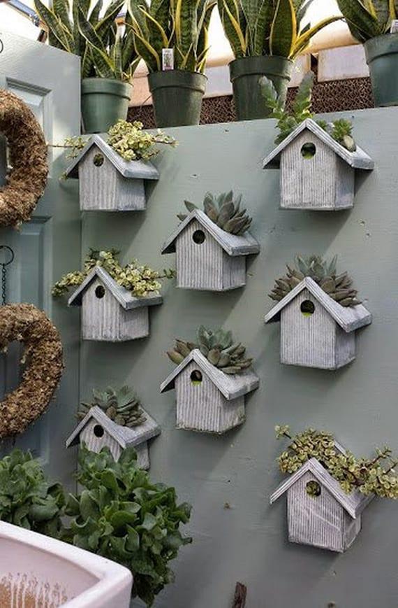 wände dekorieren mit pflanzen im DIY Blumentöpen aus Beton