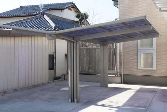 doppelcarport metall mit pultdach für solaranlage