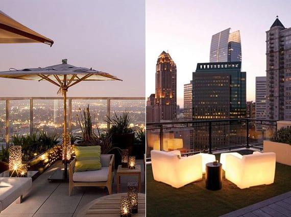 ideen für beleuchtung und lichtgestaltung der terrasse