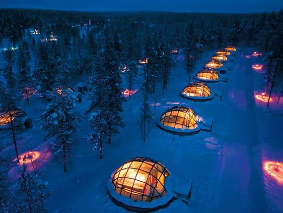 winterurlaub im glasiglu_außergewänliche und spannende übernachtung in Finnland