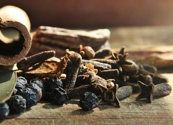 natürliches Reinigungsmittel selber machen mit ätherischem Öl aus Gewürznelke zum Saubermachen von Spülbecken