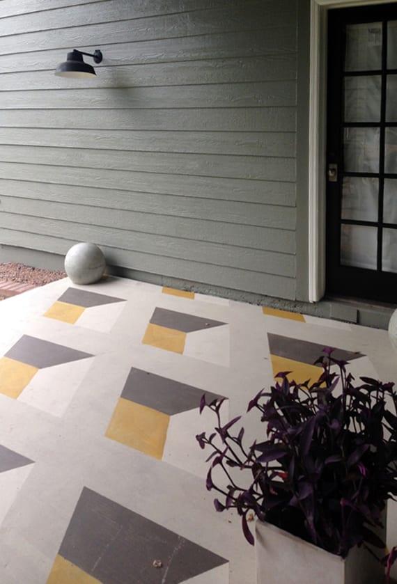 die veranda durch einen kreativ gestrichenen boden bunt gestalten freshouse. Black Bedroom Furniture Sets. Home Design Ideas