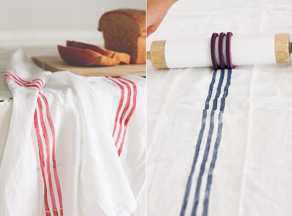 diy kartoffelstempel für streifen-druck auf textilien_tischdecken und stoffservietten selber machen